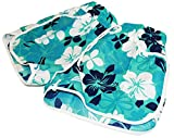 Women Sexy Quick Dry Floral Boardshort Hot Pants Swimming Trunks Tropical Volley Beach Shorts (XX-Large, Blue)