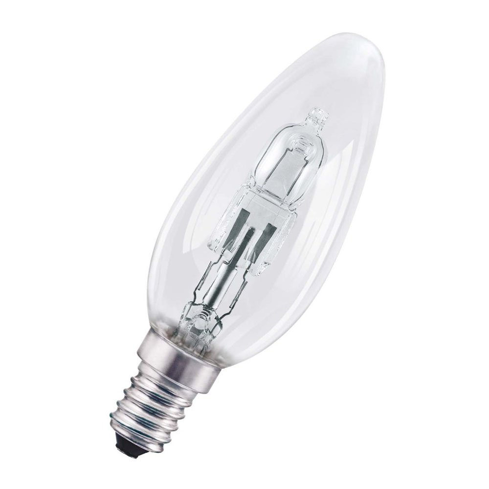 Osram Halogen Classic Candle Shaped Light Bulb Socket, E14, 30 W, Warm White [Energy Class D] Ledvance 4058075092471