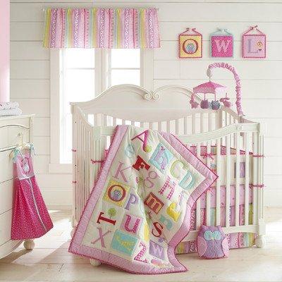 Laura Ashley Baby Owlphabet 4 piece Bumper Set (Sheet Ashley Laura Set Crib)