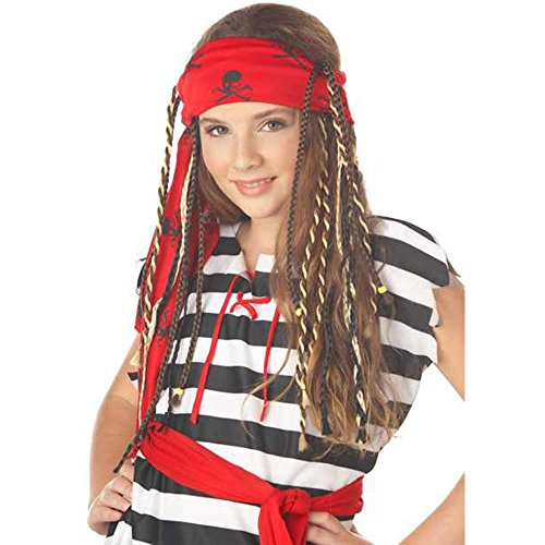 Girl's Buccaneer Pirate Costume Wig With ()