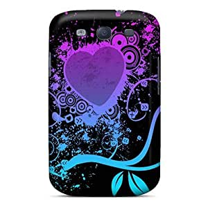 New Arrival Purple Heart PTcTOUq7671zZkCB Case Cover/ S3 Galaxy Case