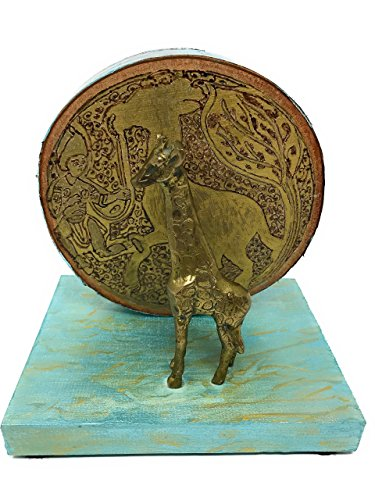 Break Free Collection: The Fatimid Giraffe and Handler Home Decor Piece - Medieval Art Reimagined by The Arabesque