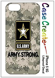 Army Logo USA Camouflage Decorative Sticker Decal for your iPhone 5 Lifeproof Case