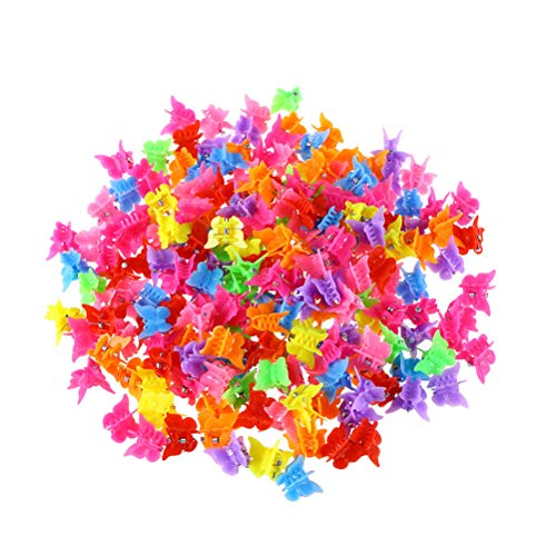 Lurrose Mini Butterfly Hair Claw Barrettes Clips Jaw Claps Hairpins for Women and Girls 300 Pieces