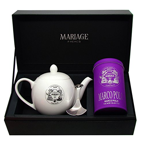 Mariage Frères - «DEGUSTATEUR» tea gift set MARCO POLO BLACK TEA and TEAPOT®