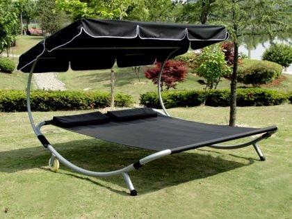 Gartenliege 2 personen dach  Amazon.de: Loywe Sonnenliege Doppelliege mit Dach für 2-Personen ...