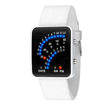 Bestow Reloj deportivo Japonés Estilo Multicolor Reloj Deportivo LED Reloj (Blanco): Amazon.es: Deportes y aire libre
