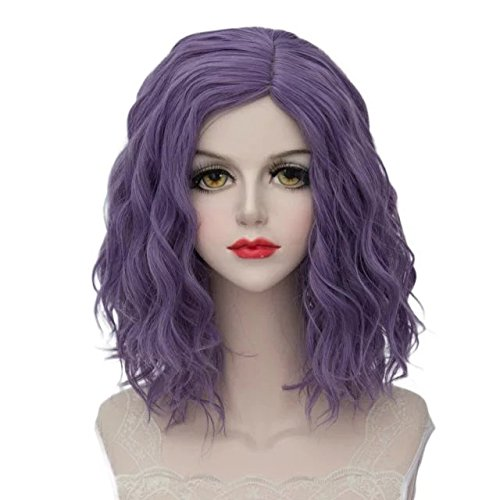 Comb Halloween Wigs (Lolita Multicolor 35cm Short Wavy Halloween Cosplay)