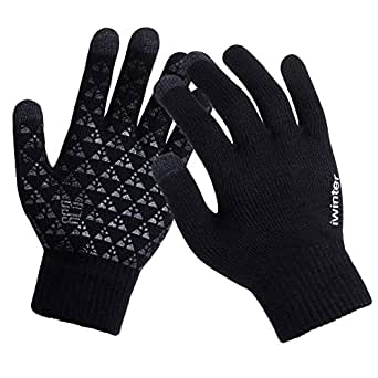 Amazon.com : Knitted Gloves Touch Screen Male Thicken Warm