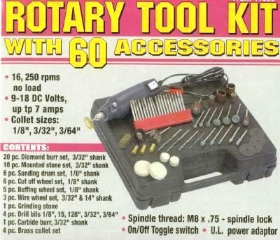NEW Rotary Tool Kit with 60 Accessories