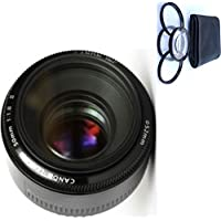 Canon 50mm 1.8 II Lens + 4pc Macro Lenses Set (+1 +2 +4 +10)