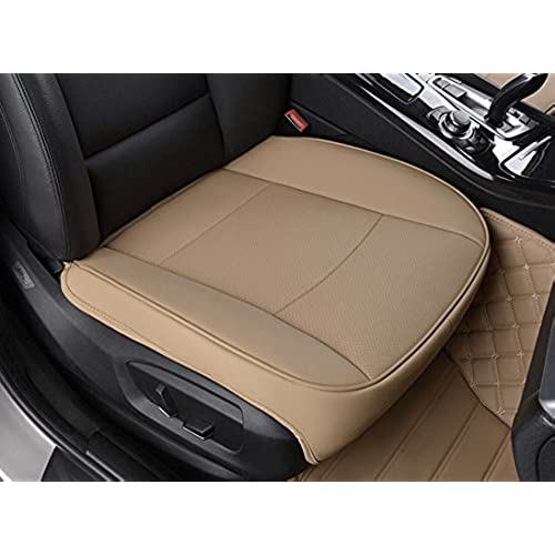 EDEALYN Ultra Luxury PU Leather Car Seat Protection Cover For Most Four Door Sedan SUV Single Without Backrest 1pcs W 205x L21 3D
