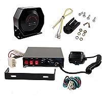 200W 8 Tones Emergency Warning Siren with PA Speaker MIC System Loud Car Warning Alarm for Police Fire Ambulance Siren Horn