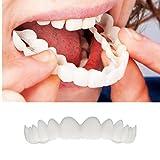 (US) Enjocho Tooth Veneer, 1PC Professional Cosmetic Upper -Instant Smile Comfort Fit Flex Cosmetic Teeth Denture Teeth Top Cosmetic Veneer (White)