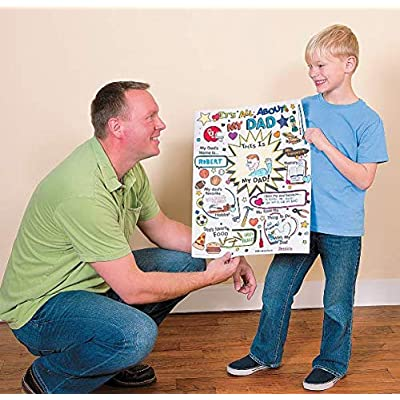Color Your Own All About Dad Poster - Crafts for Kids and Fun Home Activities: Toys & Games