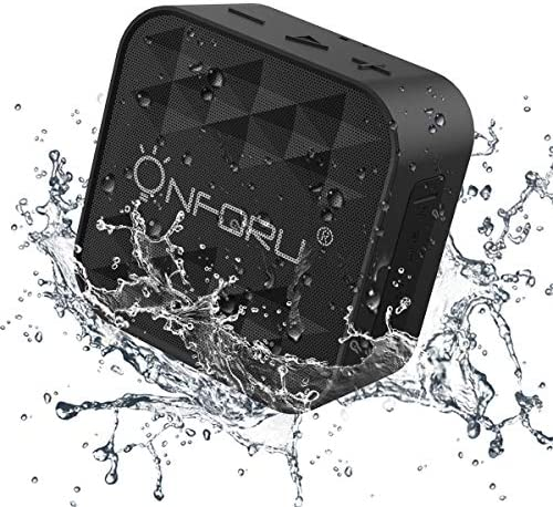 Onforu Portable Bluetooth Speaker for Shower, IPX7 Waterproof Wireless Outdoor Speaker with HD Stereo Sound, Bluetooth 5.0 and 12h Playtime, Mini Speaker for Home, Pool, Beach, Hiking,Support TF Card