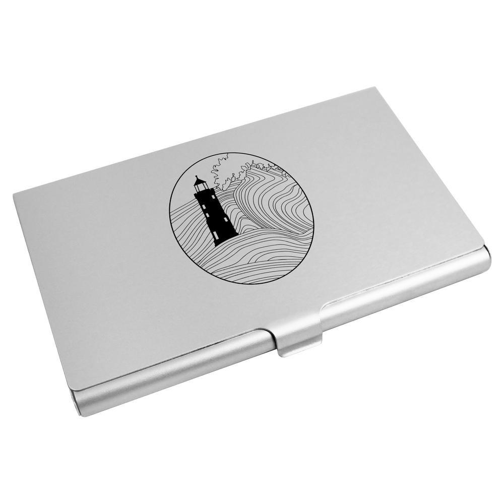 9dc306d5e5a346 lovely Azeeda 'Leuchtturm' Visitenkartenhalter / Kreditkarte Geldbörse  (CH00003057) j5m3Z17L