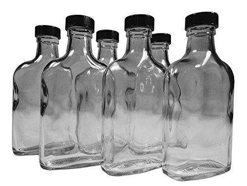 Tricky Ricky 200ml Travel Glass Flask (6-Pack)