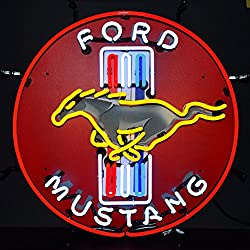 Neonetics Ford Mustang Red Neon Sign with Backing