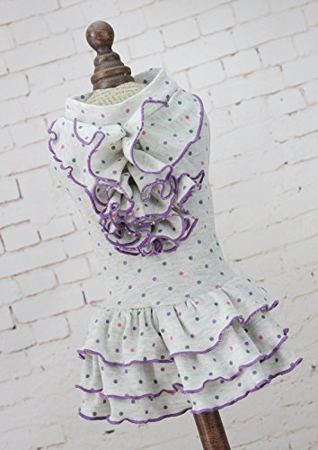 42f9102c88 SANVING-LI Prendas de vestir ropa de perros vestidos de boda vestido tejido  de punto de inicio