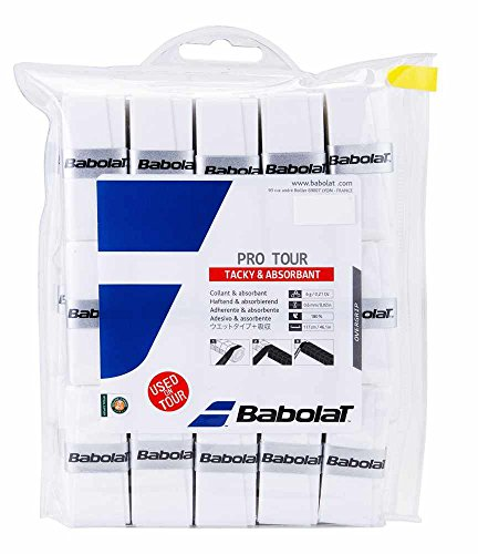 Overwrap Grip (Pro Tour 30 Pack White Tennis Overgrip)