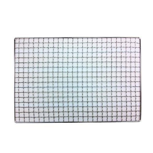 焼き網(スチール製) 角網長方形型 380×200mm 20枚 丸和工業 小判七輪長角七輪 などに B079L5LHVT
