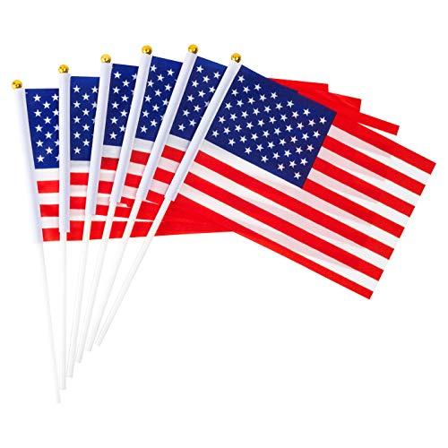 Plastic Flags - GammyUS 30pcs Small Mini USA US