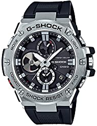 Casio Mens G-Shock Quartz Resin Dress Watch, Color:Black (Model: GST-B100-1ACR)
