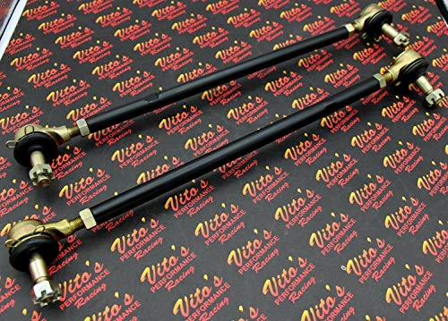- 2 X New Vito's Yamaha Banshee Black Tie Rods/Ball Joints Stock Length Kit