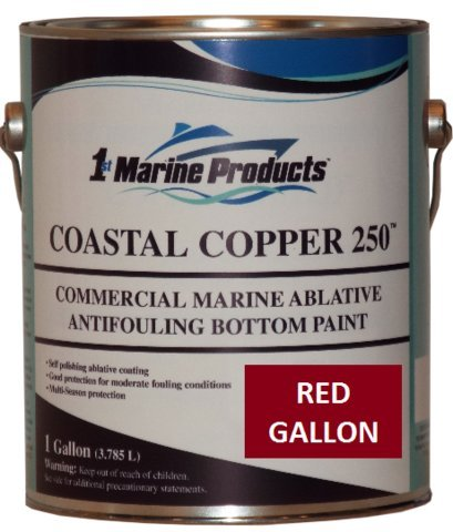 RED GALLON Coastal Copper 250 Ablative Antifouling Bottom Paint RED GALLON