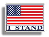 I STAND USA Flag Sticker Decal American Military Car Truck Auto Automotive Graphic Bumper Window Honoring Soldiers