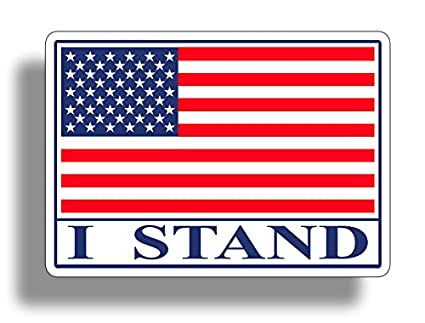 Amazon I Stand Usa Flag Sticker Decal American Military Car