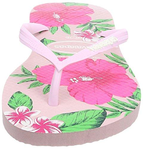 Havaianas Rose Sandalias Slim Rosa 1141 Crystal Floral Mujer wUAw4qr8