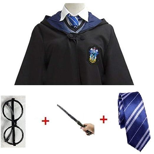 RunJuWuYe Capa mágica Cosplay Traje de Potter Traje Capa Corbata ...