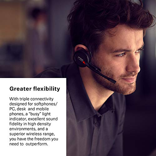 Sennheiser Enterprise Solution SDW 5016 Single-Sided Wireless DECT Headset for Desk Phone Softphone/PC& Mobile Phone Connection Dual Microphone Ultra Noise-Canceling, Black by Sennheiser Enterprise Solution (Image #5)