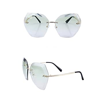penao Großen Rahmen Persönlichkeit Sonnenbrille Dame unregelmäßige Sonnenbrille transparent Ozean Stück Sonnenbrille NMirl1