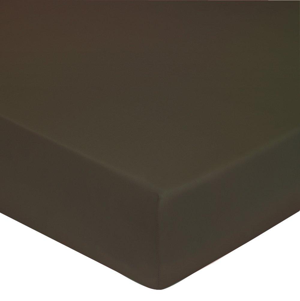Bonnet de 40 cm percale 80 fils Drap housse 140x190 platine