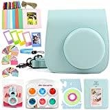 wogozan Bundle About Instax Mini 8 Accessories Includes Ice Blue Camera Case for Fuji instax Mini 9 / Photo Album for Fuji Mini 8 Film/Colored Filters/Film Frames and Others