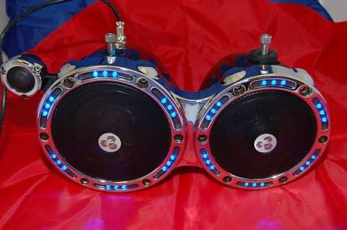 T6.5 3 way Marine Tower Speakers Diamond audio Chrome