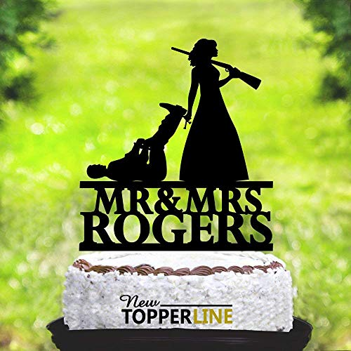 The Hunt Is Over Wedding Cake Toppers,Funny Wedding Cake Toppers,Acrylic Cake Topper,Wedding Party Decorations Cake -