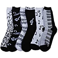 RSG Hosiery Women's & Teens Fun & Funky Crew Socks