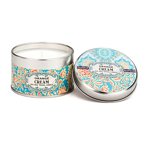 Cream Soy Candle (Michel Design Works Soy Wax Candle in Travel Tin Size, Orange Cream)