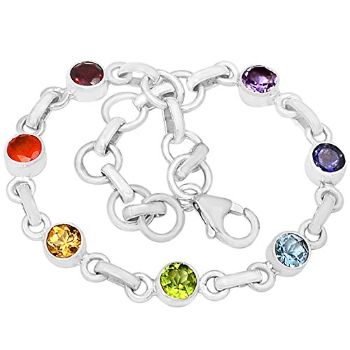 "Xtremegems 9.4g Healing Chakra 925 Sterling Silver Bracelet Jewelry 8"" CP123 from Xtremegems"
