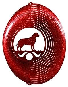 Bull Mastiff círculo Swirly Metal Wind Spinner