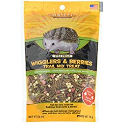 SUNSEED COMPANY 36035 Wigglers/Berry Vita Prima Hedgehog Trail Treat Mix, 2.5 oz