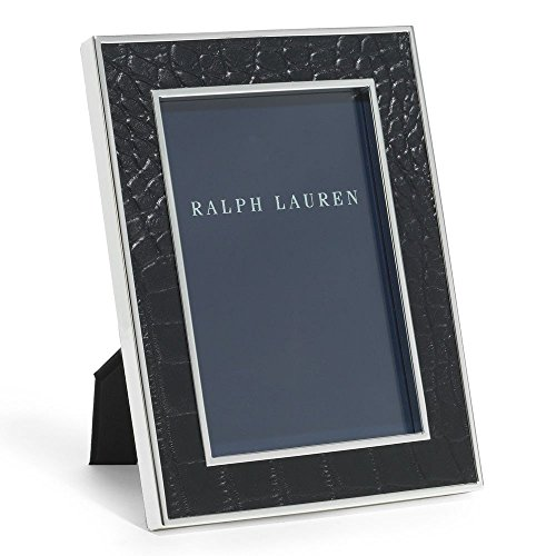 Ralph Lauren Chapman 5 x 7 Black Alligator Embossed Leather Picture Frame (Home Decor Ralph)