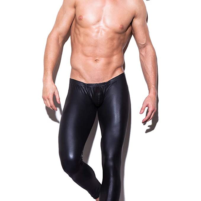 c149683fc2e3d Men's Sexy Leather Pants, Tight Pants Erotic Patent Leather Pants Suitable  Bar and Nightclub Black