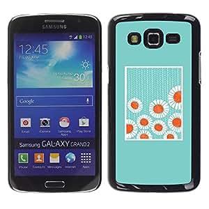 Paccase / SLIM PC / Aliminium Casa Carcasa Funda Case Cover para - Minimalist Baby Blue Flowers - Samsung Galaxy Grand 2 SM-G7102 SM-G7105