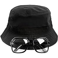 Gravity Trading 80s/90s Hip-Hop Costume Kit (Bucket Hat + Old School Squared Glasses)