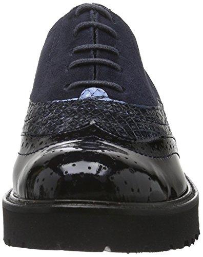 Semler Elena-g1/2, Zapatos de Cordones Brogue para Mujer Azul - Blau (080 midnightblue)